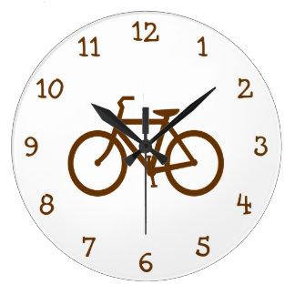 Brun cykel stor klocka