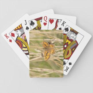 Brun fjäril för vägg spelkort