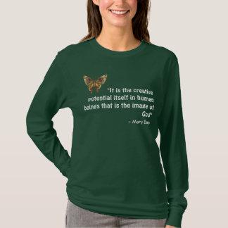 Brun fjärilsT-tröja med inspirera citationstecken Tröjor