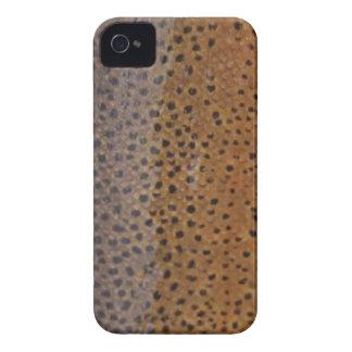 Brun forellblackberry fodral iPhone 4 skal