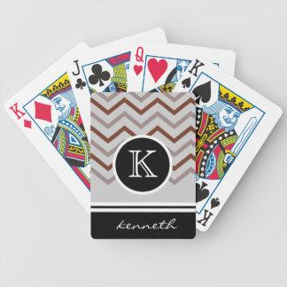 Brun grå anpassningsbar för namn för spelkort