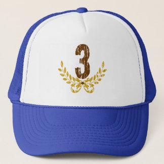 Brun & guld- kran för #3 truckerkeps