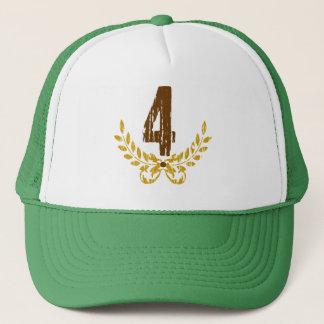 Brun & guld- kran för #4 truckerkeps