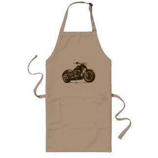 Brun Harley motorcykel Långt Förkläde