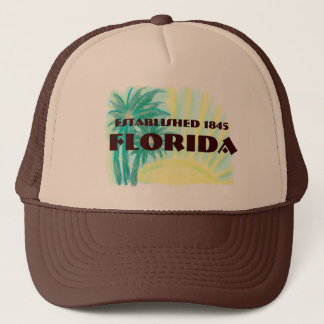 Brun hatt soliga handflatan etablerade 1845 för Fl Truckerkeps