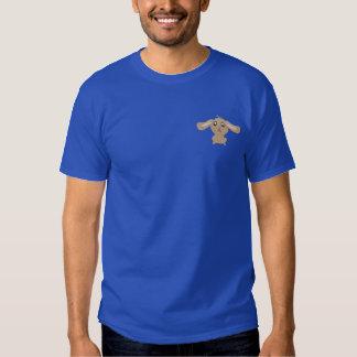 Brun kanin broderad Poloskjorta Broderad T-shirt