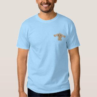 Brun kanin broderad T-tröja Broderad T-shirt