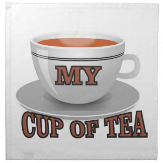 brun kopp av tea tygservett
