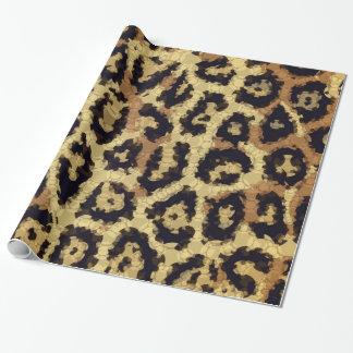 Brun kräm- Cheetahabstrakt Presentpapper