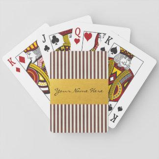 Brun & kräm- lodrät för anpassningsbar texturerade casinokort