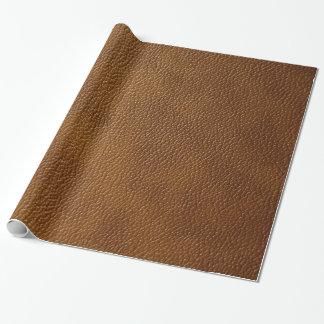 Brun läderLook Presentpapper