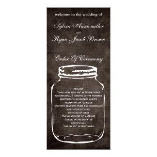 brun lantlig masonburkbröllopsprogram reklamkort
