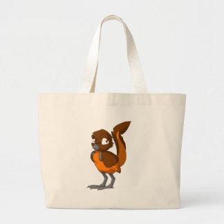 Brun/orange Reptilianfågeltoto Jumbo Tygkasse