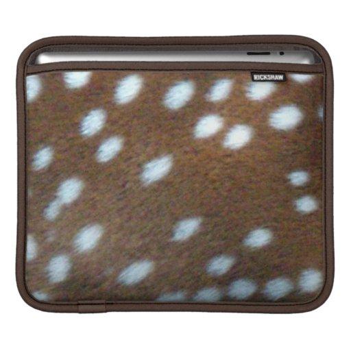 Brun päls med vit Bambi pricker Sleeve För iPads