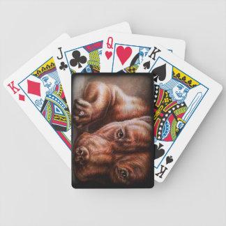 Brun pitbullansikteteckning av den älsklings- spelkort