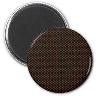 Brun polka dots på svart magnet