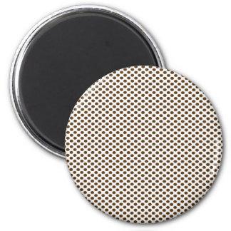 Brun polka dots på vit magnet