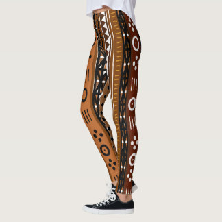 Brun stam- Boho design Leggings