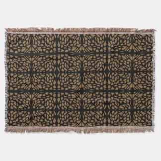 Brun stenkastfilt filt