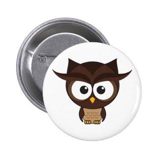 Brun uggla standard knapp rund 5.7 cm