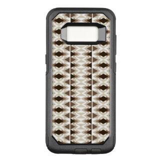 Bruna beige Taupe för Aztec stam- neutralt OtterBox Commuter Samsung Galaxy S8 Skal
