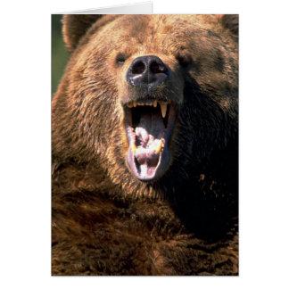 Bruna björnvisningtänder hälsningskort