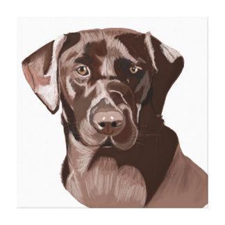 Bruna Labrador Canvastryck