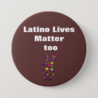Bruna Latinoliv betyder fred knäppas för Mellanstor Knapp Rund 7.6 Cm