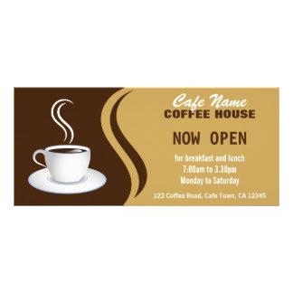 Bruna och beige Cafekuggekort för coffee shopmeny Rackkort Med Full Färg