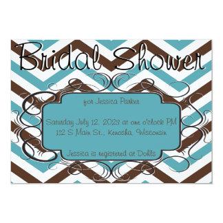 Bruna och blåttsparreinbjudningskort för möhippan 12,7 x 17,8 cm inbjudningskort