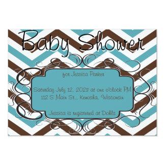 Bruna och för blåttsparrebaby shower inbjudningar