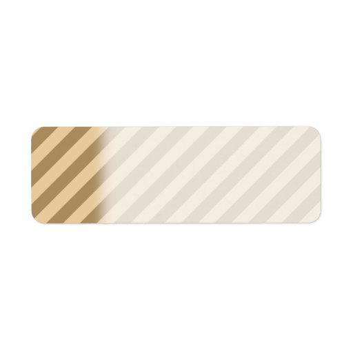 Bruna Stripes. Returadress Etikett