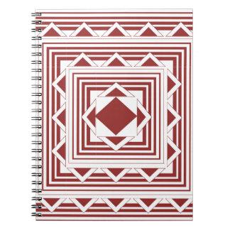 Bruna trianglar och linjer anteckningsbok