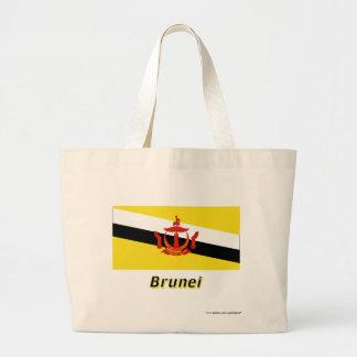 Brunei flagga med namn kassar