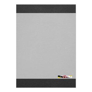 Brunei flaggastilsort 12,7 x 17,8 cm inbjudningskort