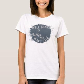 Brunn gjord påståendeskjorta t shirts