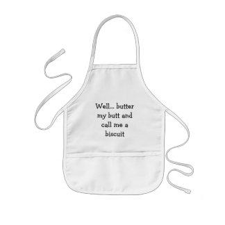 Brunn… smör min ända och appell mig en kex barnförkläde