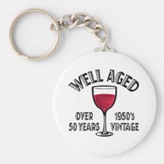 Brunn som åldras över 50 år nyckel ring