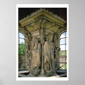 Brunnen av Moses, David och Moses, 1395-1404 (stoe Poster