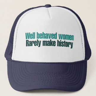 Brunnen uppförda kvinnor gör sällan historia keps