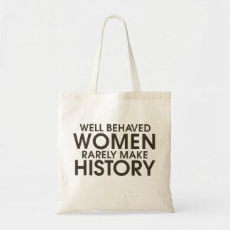 Brunnen uppförda kvinnor gör sällan historia tygkasse