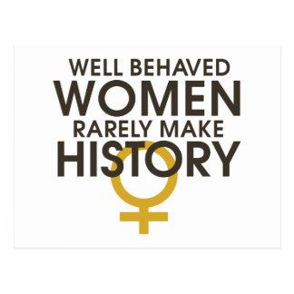Brunnen uppförda kvinnor gör sällan historia vykort