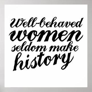Brunnen uppförde kvinnor poster