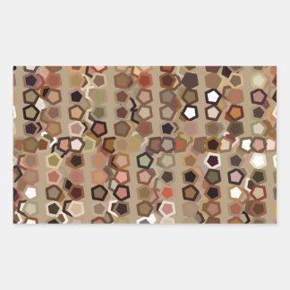 Brunt abstrakt mönster rektangulärt klistermärke