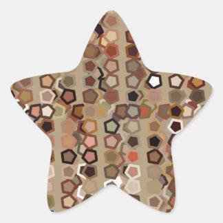 Brunt abstrakt mönster stjärnformat klistermärke