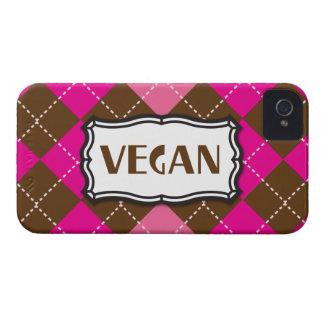 Brunt Argyle för Veganpriderosor iPhone 4 Case-Mate Skydd