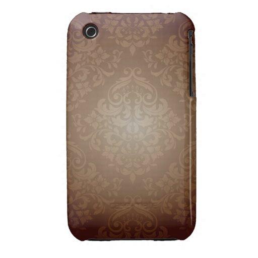 Brunt damastast designblackberry curvefodral iPhone 3 Case-Mate cases