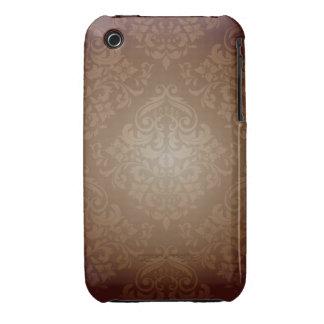 Brunt damastast designblackberry curvefodral iPhone 3 skydd