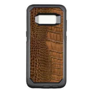 Brunt djur för Vegan för krokodilefterföljdFaux OtterBox Commuter Samsung Galaxy S8 Skal