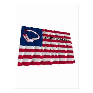 Brunt flagga av självständighet vykort